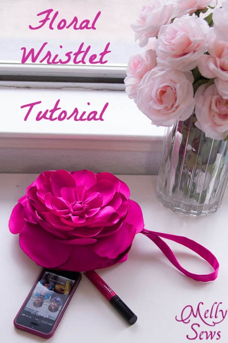 Sew this gorgeous rose clutch with this tutorial from MellySews.com