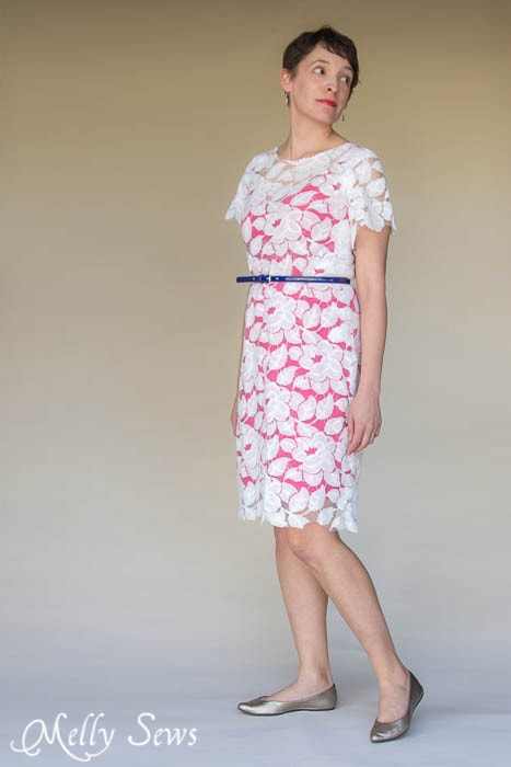 I'm not sure I could sew this, but I could wear it! Lace Dress 3 Ways - MellySews.com