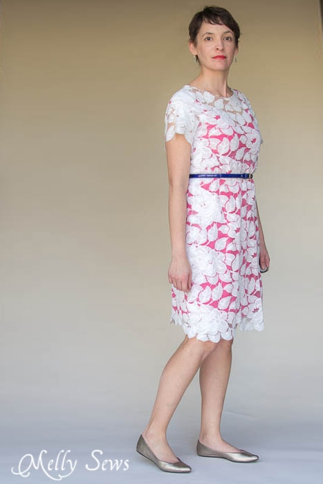 Use the Shoreline Boatneck Pattern to Sew a Lace Dress