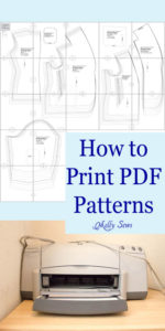 How to Print PDF Patterns - Tutorial and Video by MellySews.com