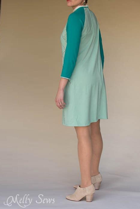Back of sequin dress - MellySews.com