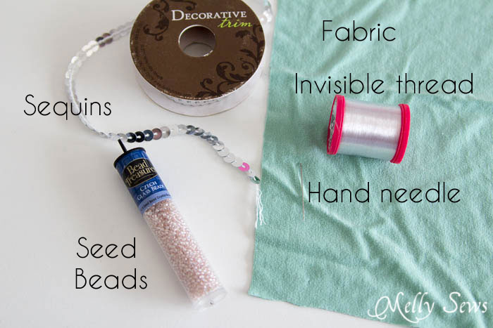 Materials - How to Sew Sequins - MellySews.com