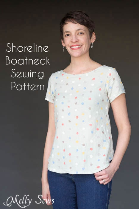 Shoreline Boatneck PDF Sewing Pattern by Blank Slate Patterns