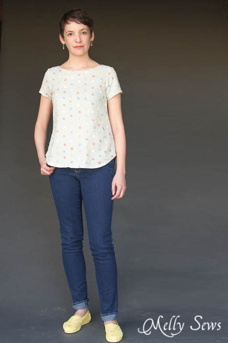 Easy like a t-shirt but classier - Shoreline Boatneck PDF Sewing Pattern by Blank Slate Patterns