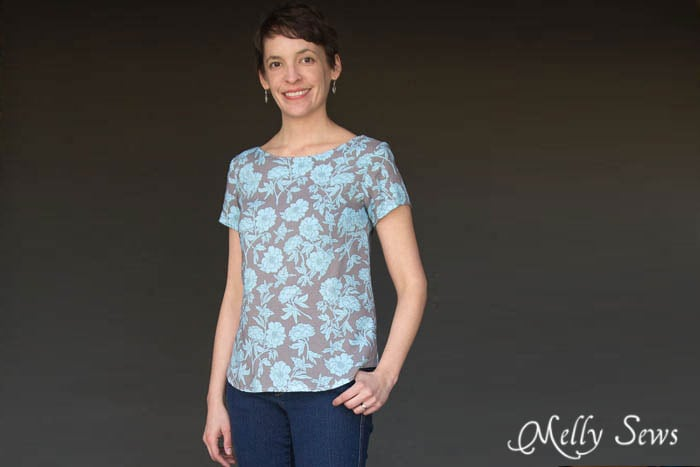 Gorgeous Rayon version of Shoreline Boatneck PDF Sewing Pattern by Blank Slate Patterns