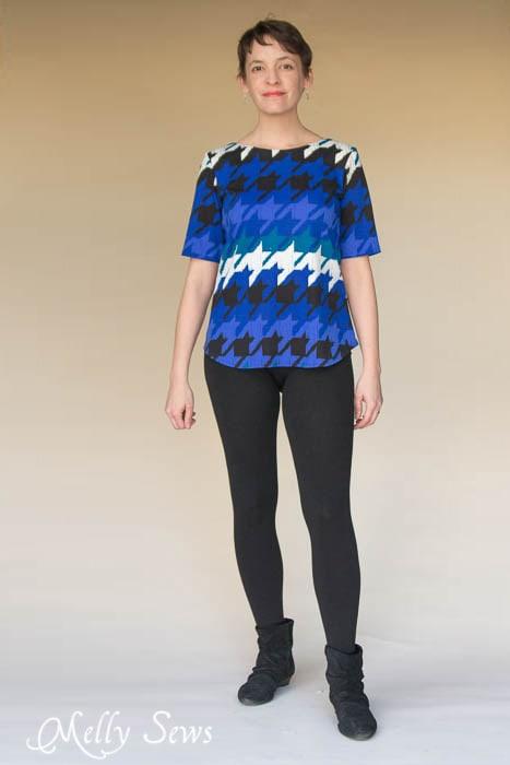 Looks great with leggings - Shoreline Boatneck PDF Sewing Pattern by Blank Slate Patterns