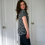 Day tripper top grey black print (2)