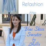 Sweater Refashion – Blue Skies Flashback
