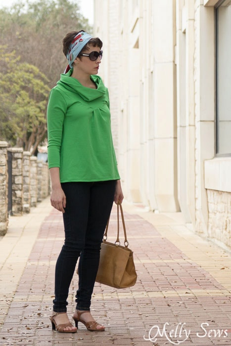 Perfect for a day of window shopping - The City Girl Top  - Pattern by see kate sew - sewn by http://mellysews.com