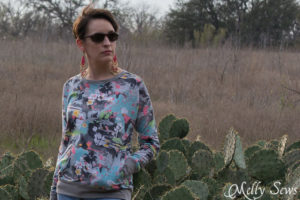 Close up - Daytripper shirt by Shwin Designs sewn by http://mellysews.com