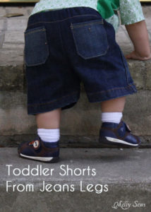 How to make Toddler Shorts from Adult Jeans Legs