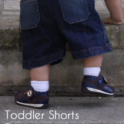 Toddler Shorts from Old Jeans