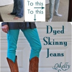DIY Dyed Skinny Jeans