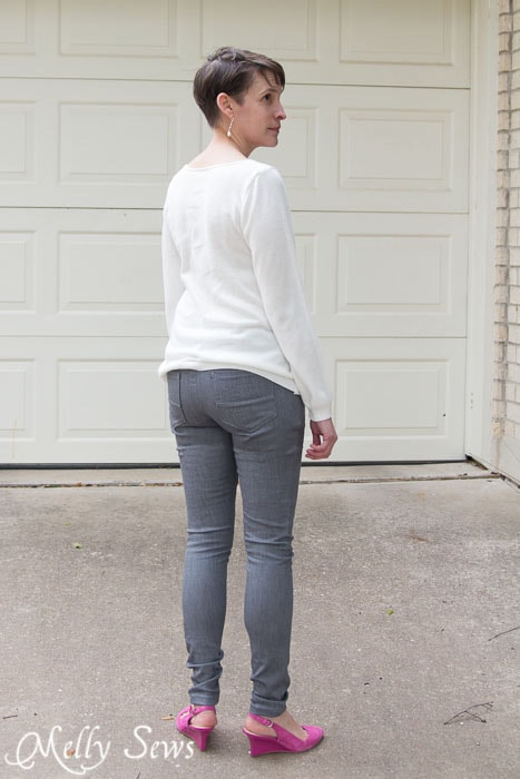 Back View - Jamie Jeans by Named Clothing - sewn by https://mellysews.com