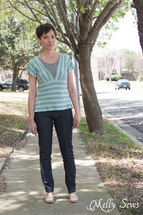 Wildflower top and jeans sewn by http://mellysews.com