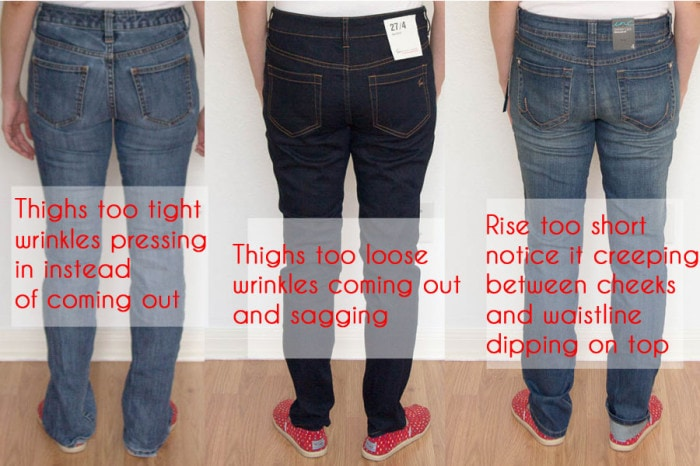 Jeans Fit Guide - Identifying Fit Issues - Melly Sews