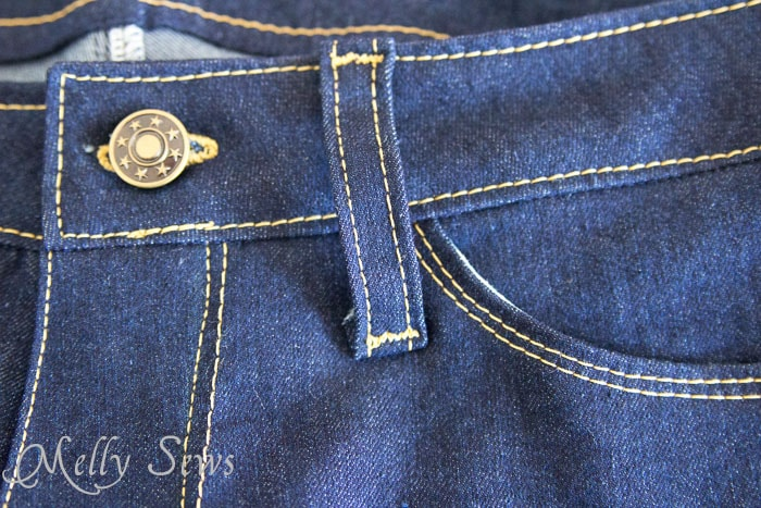 Topstitching - tips for success in sewing your own jeans - https://mellysews.com