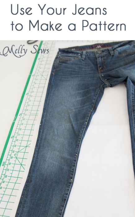 How to make a sewing pattern from your jeans - https://mellysews.com