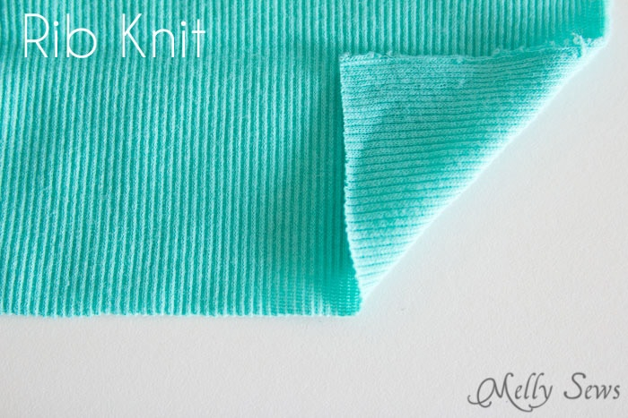 Rib Knit - Types of Knit Fabric - An overview of knit fabrics - https://mellysews.com