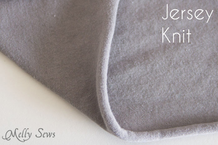 Jersey Knit - Types of Knit Fabric - An overview of knit fabrics - http://mellysews.com