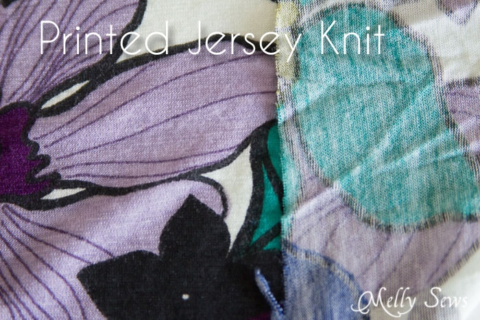 Printed Jersey Knit - Types of Knit Fabric - An overview of knit fabrics - http://mellysews.com