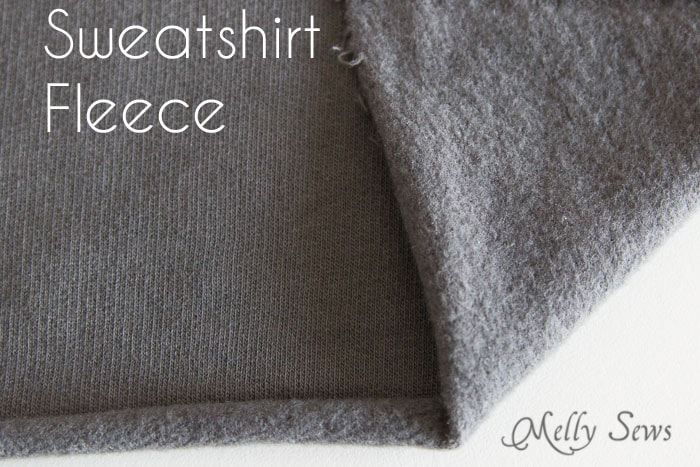 Sweatshirt Fleece - Types of Knit Fabric - An overview of knit fabrics - https://mellysews.com