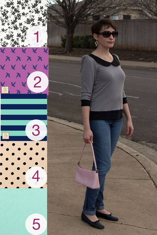 Parisian sewing pattern and fabric picks from Girl Charlee - by https://mellysews.com