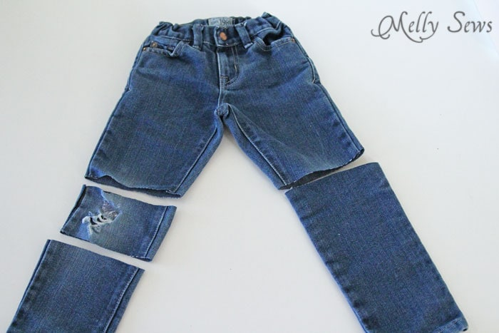 Step 1 - How to Patch Jeans - An easier way to mend knees with holes - MellySews.com