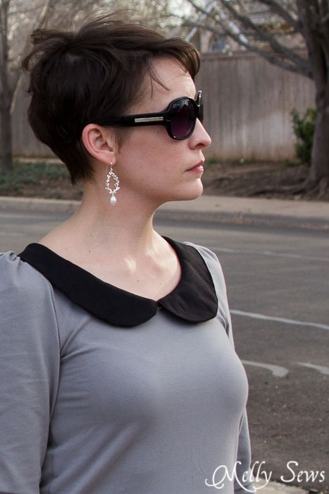 Love those Jacaranda Designs earrings - and this Parisian top by GoTo Patterns sewn by https://mellysews.com