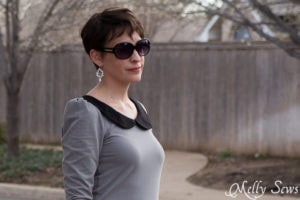 Peter pan collars are my favorite - Parisian top by GoTo Patterns sewn by http://mellysews.com