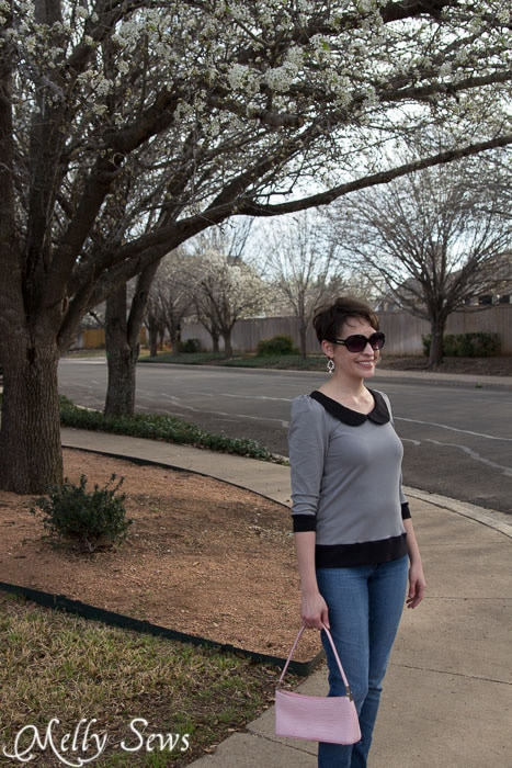 Perfect spring chic -  Parisian top by GoTo Patterns sewn by https://mellysews.com