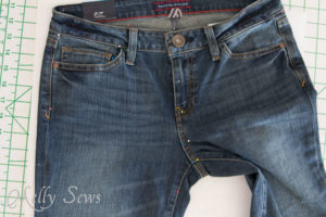 Use pins and cardboard to make a pattern from your jeans - without destroying them! https://mellysews.com