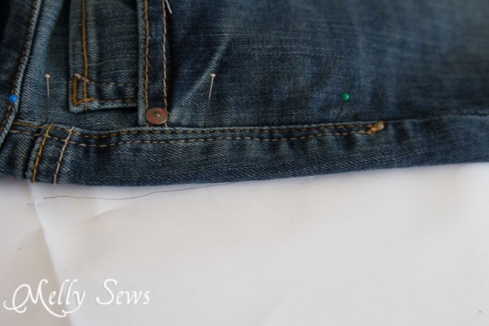 Rub off jeans pattern - http://mellysews.com