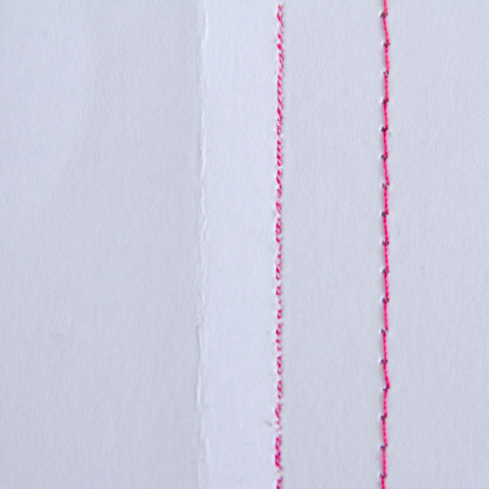 Difference in stitch lengths - use longer stitches for topstitching - http://mellysews.com
