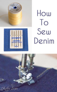 How to Sew Denim - https://mellysews.com