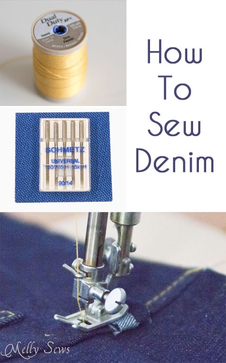 How to Sew Denim - http://mellysews.com