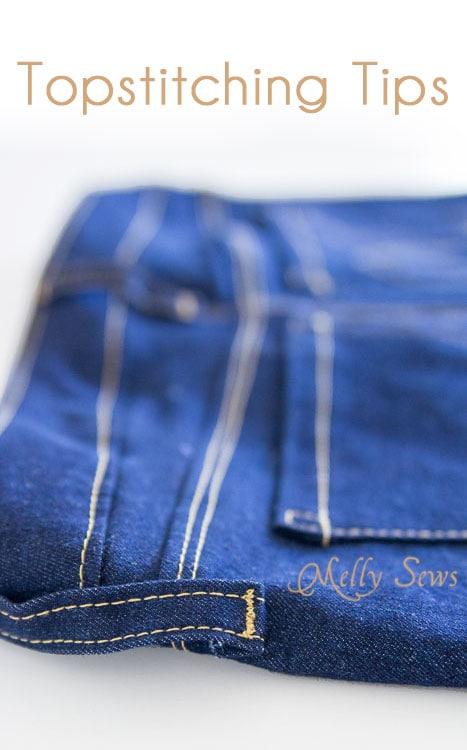 How to Topstitch - http://mellysews.com