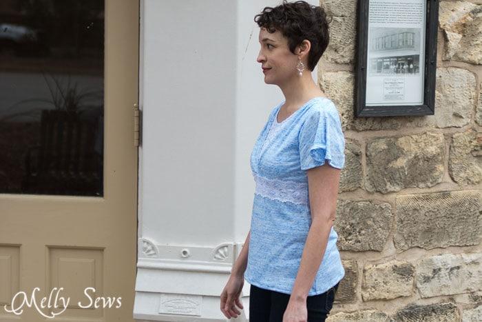 Bell Sleeves on Wildflower PDF Sewing Pattern - BlankSlatePatterns.com