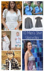 10 Men's Shirt Upcycle Tutorials - https://mellysews.com