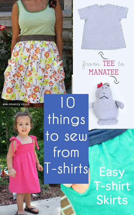 10 Upcycle Tutorials to sew from Old T-shirts