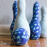 First birthday sewn gift idea! - Indoor Bowling Set - Pattern by Sew Like My Mom, sewn by http://mellysews.com