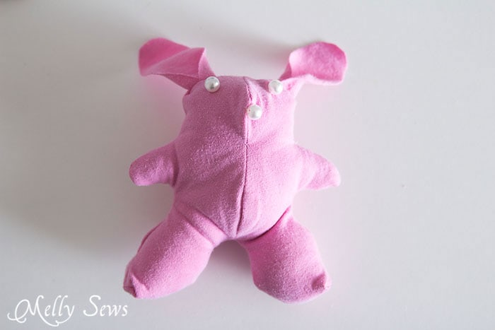 Step 7 - T-shirt bunny tutorial with free pattern - http://mellysews.com