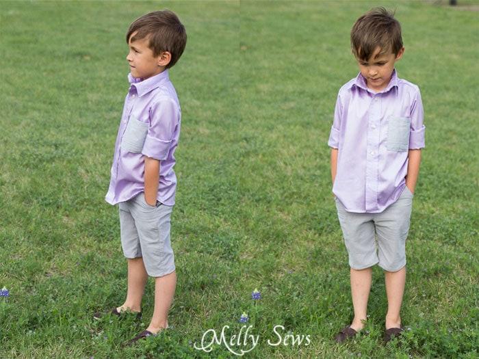 Boys shorts and shirt - http://mellysews.com