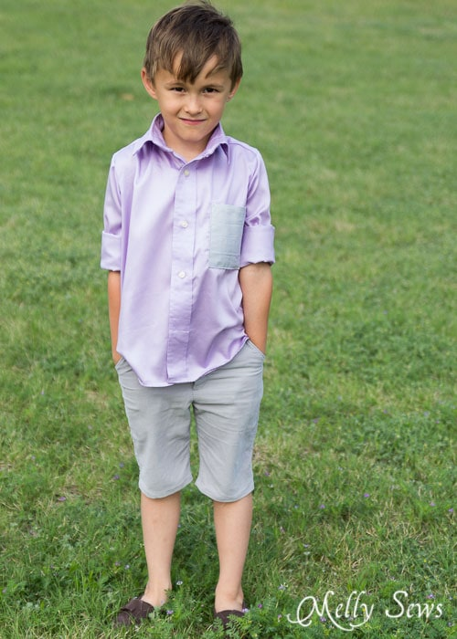 Boys shirt - http://mellysews.com