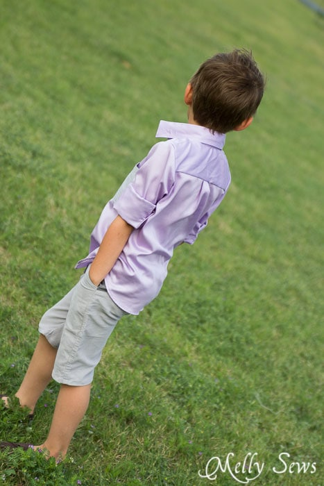 Great style - Boys shirt - http://mellysews.com