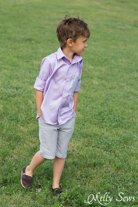 Spring prep style - Boys shirt - http://mellysews.com
