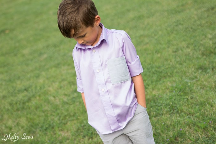Perfect preppy spring look - Boys shirt - https://mellysews.com