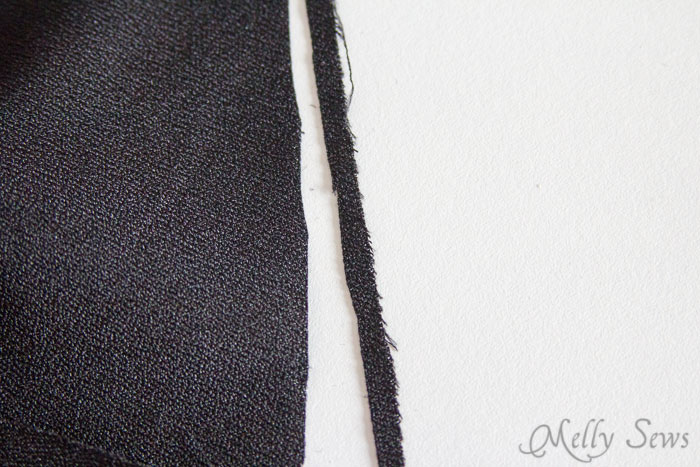 """Trim 1/8"""" from under collar to help form the roll - How to sew a Shawl Collar - http://mellysews.com"""