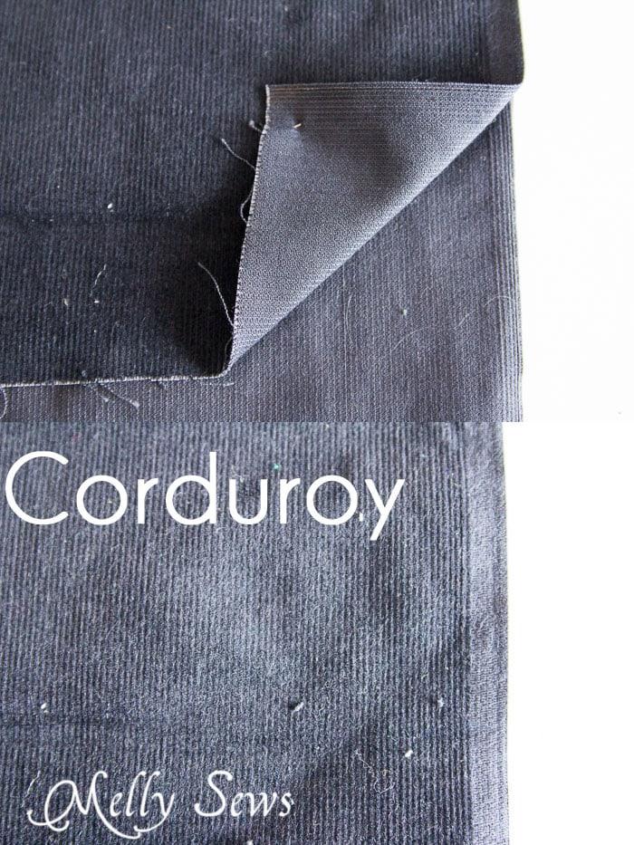 Corduroy - Suit Fabrics - http://mellysews.com