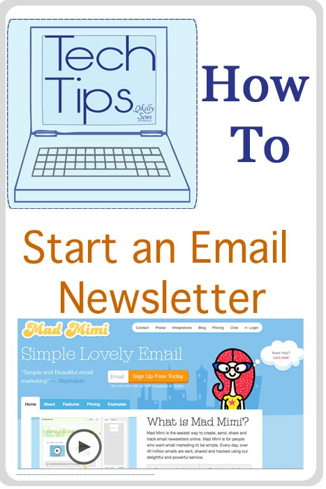 How to Start and Email Newsletter for your blog - Tech Tips with https://mellysews.com